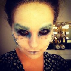 Ice demon makeup I did for my stage makeup class