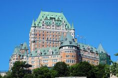 Chateau Frontenac in Quebec City, Quebec, Canada Old Quebec, Montreal Quebec, Quebec City, The Places Youll Go, Places To Visit, Montreal Vacation, Chateau Frontenac, Le Petit Champlain, Us Road Trip