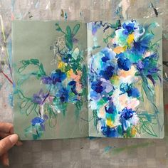 """2,455 Likes, 55 Comments - Sonal Nathwani (@sonaln) on Instagram: """"today's sketchbook . . . #painting #sketchbook #abstractflowers #dscolor #dsfloral…"""""""