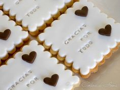 "Galletas ""Gracias por todo"" / Fondant cookies ""Thanks for everything"""