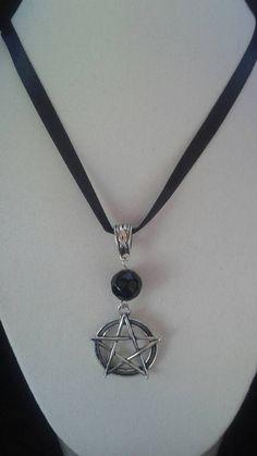 Enchanted Black Obsidian Pentagram Charm by SpeakingofWitchWands