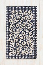 Plum & Bow Gingham Floral Rug - LOVE