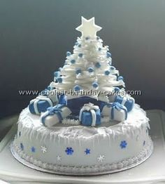 cake with cookie tree...cute