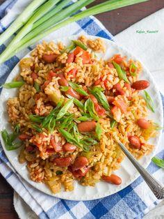 Thanks. Vegan Dinner Recipes, Healthy Crockpot Recipes, Vegan Recipes Easy, Slow Cooker Recipes, Vegetarian Recipes, Vegan Dinners, Slow Cooker Jambalaya, Vegan Jambalaya, Granola