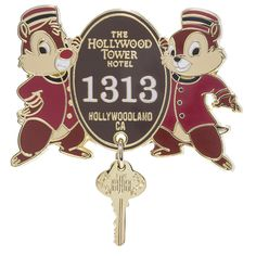 Your WDW Store - Disney Hollywood Studios Pin - Tower of Terror Chip n Dale Key