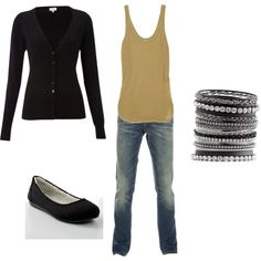 K's outfit, created by amyjoyful1 on Polyvore