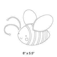 Bumble Bee Stencil for Painting Bee on Kids Walls