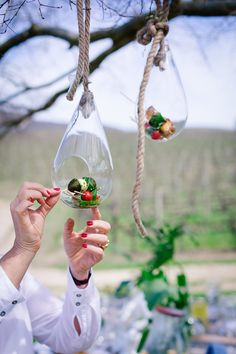 ALFRESCO FEAST | Hanging canapés why put it on a plate if you can hang it up?#canapes #capresesalad #miel_meel #hangingfood