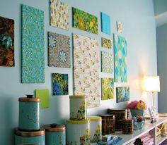 do it yourself decorating ideas | ... Decors » Blog Archive » 21 Nice Ideas to Decorate Wall with Squares ~Awesome for a craft room