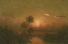 Florida Sunset: A Study, 1885, Martin Johnson Heade