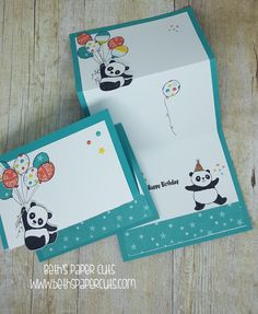 Hi Everyone! Today I want to share this fun card using the Party Pandas stamp set. This is one of the Sale-a-Bration offerings. Sale-a...