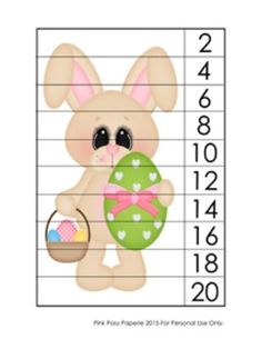 Easter Number Counting Strip Puzzles - 5 Different Designs - Skip by 2 Skip Counting By 2, Ordering Numbers, Preschool Math, Creative Teaching, Elementary Math, Easter Ideas, Math Centers, School Design, 6 Inches