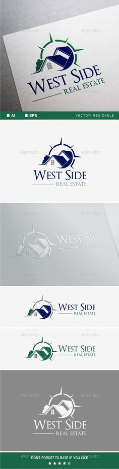 West Side Real Estate by soponyono Logo template suitable for Real Estate & Constructions. Easy to edit, change size, color and text. CMYK and RGB color AI and EPS 1