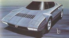 Lancia Stratos HF prototype coupe (Bertone), 1971 Lancia Stratos, - The 100 most beautiful cars (The Daily Telegraph) Car Design Sketch, Car Sketch, Vintage Bikes, Vintage Cars, 70s Cars, Car Illustration, Rally Car, Retro Futurism, Concept Cars