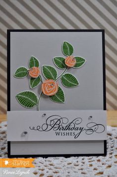 Simple Sprig, Floral stamps, flower stamps, photopolymer clear stamps from waltzingmouse stamps   Waltzingmouse Stamps