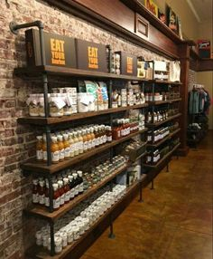 Large Pipe shelving unit Bookcase Wall Shelving - Home - Shelves in Bedroom Coffee Shop Design, Cafe Design, House Design, Design Design, Design Ideas, Interior Design, Modern Design, Bookcase Wall, Wall Shelves