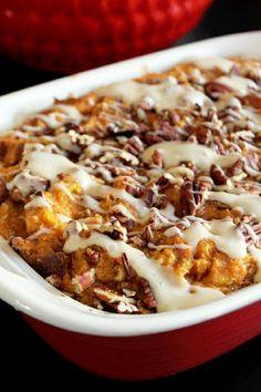 Pumpkin Pie Bread Pudding Recipe | The perfect combination of pumpkin pie and bread pudding!