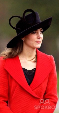 Kate Middleton, Prince Williams's girlfriend, attends the Sovereign's Parade at the Royal Military Academy Sandhurst