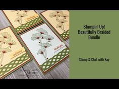 Stampin' Up! Beautifully Braided Bundle - Stamping To Share Red Rhinestone, Starter Kit, Being Used, Cardmaking, Card Stock, 3 D, Stampin Up, Braids, Banner