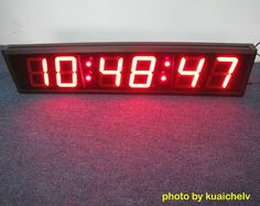 Amazoncom Ivation Big Time Digital LED Clock Table or Wall