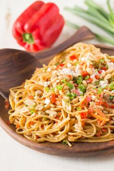 Easy Spicy Peanut Noodles with Chicken