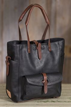 Will Ashland Leather Tote Bag by Overland Sheepskin Co. (style 60881)