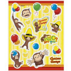Stick to adventure! Curious George Sticker Sheets are a fun way to let your party guests take home the fun and adventure of your child's birthday party.