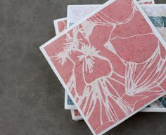 Tile Coasters  Set of 4  Beach Style Light Coral by ReeseJewelry, $14.50