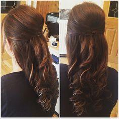 #hair #hairup #beehive #bridalhair #curlyhair #brownhair