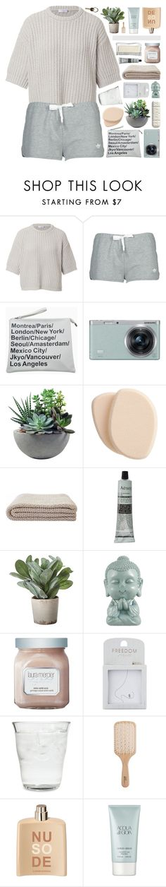 """BE PATIENT AND DON'T WORRY."" by annamari-a ❤ liked on Polyvore featuring Brunello Cucinelli, adidas, Samsung, Rough Fusion, Clé de Peau Beauté, Aesop, Torre & Tagus, Laura Mercier, Topshop and Bormioli Rocco"