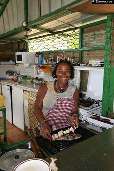 Petit restaurant de plage à l'Anse Corps de Garde. Sainte-Luce, Martinique.