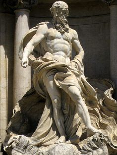 Oceanus statue at the Trevi fountain in Rome taken by Nika, via Flickr