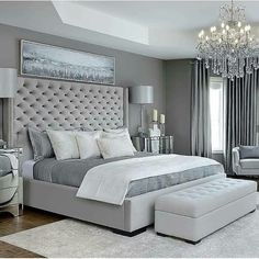 33 Popular Master Bedroom Decor Ideas - If coming up with master bedroom decorating ideas can be fun, implementing them is where you may run into a few snags. The first thing that you need t. Bedroom Decor For Couples, Home Decor Bedroom, Bedroom Ideas, Bedroom Inspiration, Bedroom Wall, Couple Bedroom, Trendy Bedroom, Modern Bedroom, Bedroom Simple