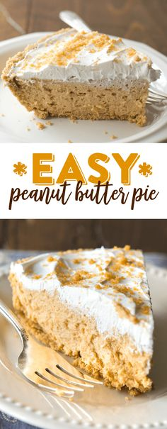 Our easy no bake peanut butter pie recipe is sweet, creamy and completely delicious.