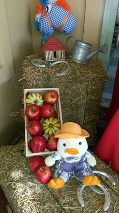 Fun decorations at a farm birthday party! See more party planning ideas at CatchMyParty.com!