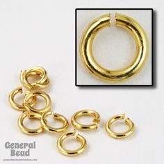 3mm Bright Gold Jump Rings 22 Gauge
