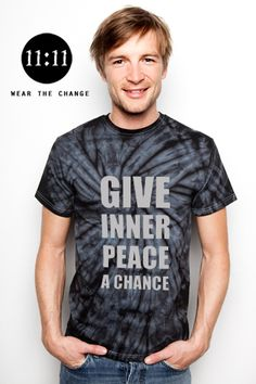 Give Inner Peace a Chance #inspirational #tshirt #1111 https://shop.spreadshirt.com/298992/-LI1003780084