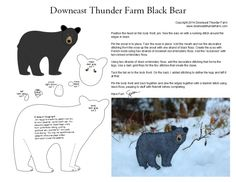 black bear pattern