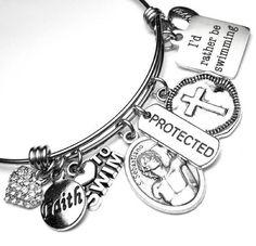 Swimmers Athletes Patron Saint St. Sebastian Catholic Holy St Sebastian, Patron Saints, Swimmers, Athletes, Catholic, Unique Jewelry, Bracelets, Handmade Gifts, Etsy