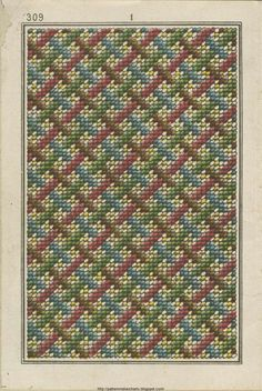 Some designs are always fresh!  Maison Sajou, nineteenth-century French Berlin woolwork pattern.