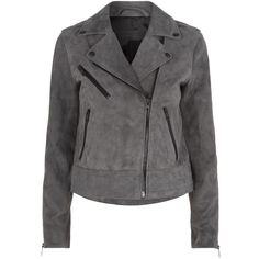 Rag & Bone Chrystie Suede Biker Jacket ($1,140) ❤ liked on Polyvore featuring outerwear, jackets, suede leather jacket, moto jacket, moto zip jacket, suede moto jacket and dark denim jacket