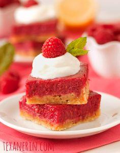 Raspberry Lemon Bars – 100% Whole Grain and Honey Sweetened - Texanerin Baking