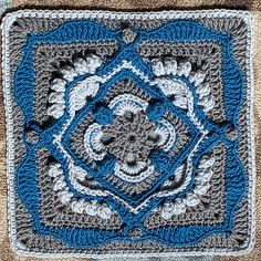 Julie Yeager Designs - Original Crochet and Knitting Patterns Crochet Quilt Pattern, Crochet Blocks, Granny Square Crochet Pattern, Crochet Stitches Patterns, Crochet Squares, Granny Squares, Crochet Motif, Crochet Designs, Knitting Patterns