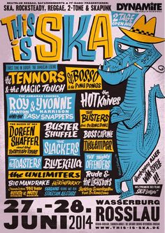 This is Ska Festival Rosslau, Germany Rock Posters, Band Posters, Concert Posters, Music Posters, Jazz, Jamaican Music, Classic Movie Posters, Advertising Poster, Reggae