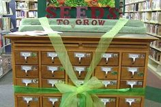 Visit the Seed Library located at the Oregon Public Library to check out seeds and learn about saving some for next year.