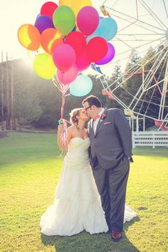 up inspired wedding