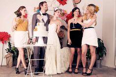 chic bridesmaids dresses