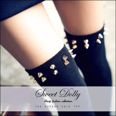 Buy 'Sweet Dolly – Studded Long Socks' with Free International Shipping at YesStyle.com. Browse and shop for thousands of Asian fashion items from Taiwan and more!