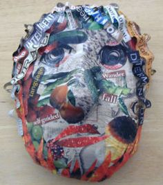 Reading project...  paper mache mask with found words related to book.  In this case the book was Esperanza Rising.