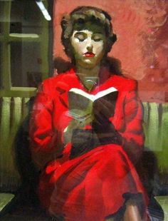 Girl in Red Reading a Book by George Seton Coggeshall Reading Library, Reading Art, Woman Reading, Books To Read For Women, Book People, Oeuvre D'art, Female Art, Painting & Drawing, Book Worms